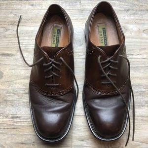 Florsheim men's brown leather dress shoes